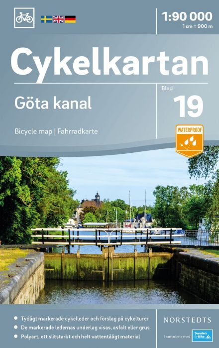 Sweden Cycling Map 19 - Göta channel